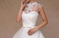 Wholesale Elegant Vintage Necklaces - Elegant sweet vintage bridal lace manual pearls Married Korean set auger small white shawl Wedding dresses a word shoulder necklace