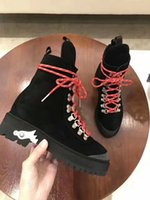 Wholesale New Arrivals Ankle Boots Platform - 2017 new Arrivals fall winter Fashion Womens black red blue Green Light Tan Genuine nubuck Leather lace up biker Combat Platform Boots