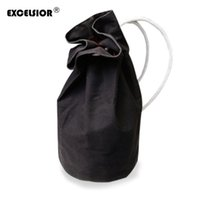 Wholesale Canvas Backpack Large - WholeTide- EXCELSIOR Nice New Large Capacity Women Man Drawstring Backpack Canvas Bucket Bag High Quality One Shoulder Concise Bags G1811