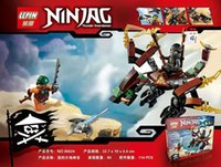 Wholesale 4styles Children toys building block Action Figures Ninjago Fangpyre Mech COLE AND DRAGON