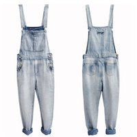 oversized jumpsuit - Retro Men s Plus Size S XL Denim Bib Overalls Multi Pockets Button Light Washed Blue Oversized Jumpsuits For Male Big and Tall