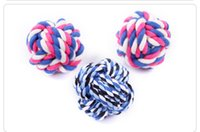 Wholesale Dog Tie Pet - Indestructible Dog Toys Resistant To Bite Ball Puppy Molars Play For Teeth Training Cotton Knot Rope Ball Color Random Pet Supplies