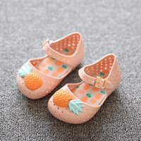 Wholesale Pineapple Patterns - Mini Melissa Jelly shoes cave cute pineapple sandals Mini SED jelly cooler shoes soft bottom girl sandals