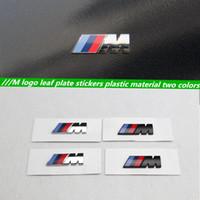 Wholesale Bmw E39 Door - 1pcs original quality car style Motorsport M performance Car side body sticker M Emblem for BMW E36 E39 E46 E90 E60 E30 F10 F30