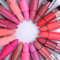 Wholesale Tattoo Full Set - 18 Colors FaRRES Velvet Matte Lipstick Set Makeup Long Lasting Lip Stick Waterproof Batom Moisturizer Lip Tattoo Maquiagem Free Shipping