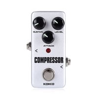 Wholesale Guitar Effect Compressor - mimi Compressor Guitar Effect Pedal Bass Compressor Effects Pedal Stompbox Balance dynamic steady output level True Bypass