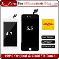 orijinal iphone kopyası toptan satış-(100% Orijinal) Çin Değil Kopya Orijinal LCD + Orijinal Arka Işık + Orijinal IC LCD Ekran Dokunmatik Ekran Digitizer Için iPhone 6 S 6 S Artı
