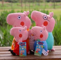 Wholesale Daddy Pig - 4PCS  SET Pepa Pig Plush Toy Figures Pink Pig Family 30cm Daddy Mummy 19cm George Pig Plush Stuffed Toys Children Gift Baby Dol