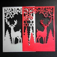 Wholesale Card Cutting Tools - Christmas Deer Frame Cutting Dies Stencil Craft Embossing Scrapbooking Tools For DIY Card Album Decoration