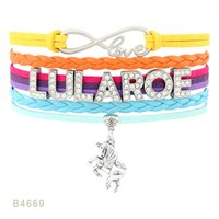 Custom-Infinity Love Lularoe Heart Bracelets unicorn Dia mond Charm Wrap Orange Yelow Blue Custom any Themes Dropship