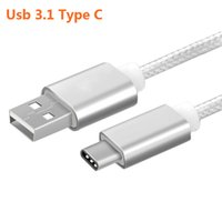 Wholesale Macbook Wire - New Original Type C Cable Nylon Line and Metal Plug Type-C USB Charger for Xiaomi 4C Letv Nokia For Macbook Oneplus Date wire