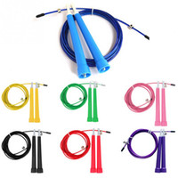 Wholesale free jumps - Adjustable Speed Steel Wire Skipping Jump Rope Crossfit Fitnesss Equipment 3M 7 Colors Hot Free Shipping