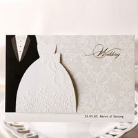 Wholesale Free Printable Wedding Envelopes - Wholesale-Bride and Groom Style Wedding Invitations Cards, Printable Invitation,With Envelope,Free shipping,50sets lot,