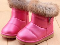 Wholesale Winter Rubber Boot Brands - 2017 Winter Brand Designer White+Red Size 21-30 Rubber Soles Ankle Children Boots Shoes Kids Shoes For Girls Boys Sonw Boots