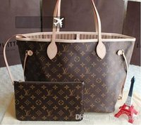Wholesale canvas full moon - Fashion Women Bag Shoulder Bags L Brand V Designer Lous Never Full Mono Lockit gram Leather Handbags Vutton Women Tote Bags