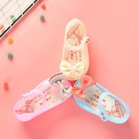 zapatos de gelatina pu melissa al por mayor-Zapatos Melissa Sandalias para niñas Luces de iluminación Suave jalea Zapatos para niñas Bebé informal Sandalias para niños pequeños Princesa de verano Mini Melissa