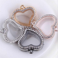 Wholesale Memory Living Bracelet Locket - Wholesale-Vogue Magnetic Crystal Living Memory Locket Pendant For Bracelet Floating Charms