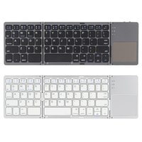 Wholesale Mobile Bluetooth Wireless Keyboard - Universal Mini Wireless Bluetooth 3.0 Folding Foldable Keyboard for iPhone 6s iPad Pro MacBook Mobile Phone Tablet PC