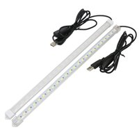 Wholesale Led Emergency Light Bars - USB Switch Adjustable 35CM 7W 24 SMD 5630 LED Rigid Strip Hard Bar Light Tube Lamp DC5V