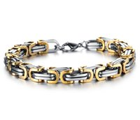 Wholesale Stainless Steel Bikers Chain - Wholesale- 5mm Classic Design Punk 316L Stainless Steel Bracelet Special Biker Bicycle Motorcycle Chain For Mens Bracelets & Bangles