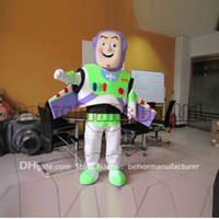 Wholesale Cheap Custom Costumes - Buzz Lightyear mascot costume free shipping, cheap high quality carnival party Fancy plush walking Buzz Lightyear mascot adult size.