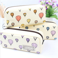 Wholesale Office Balloon - Wholesale- Cute balloon pencil Korea creative stationery bags large capacity pencil school work muslin gift girls