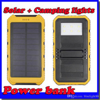 Wholesale Powerbank 2a - 2017-20000mAh solar Power Bank Ultra-thin Highlight LED Solar Power Banks 2A Output Cell Phone Portable Charger Solar Powerbank Free shippi
