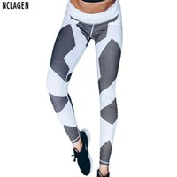 Wholesale Tissue Low - Wholesale- NCLAGEN New Women Fitness Leggings Patchwork Bodycon Adventure Time Legins Knitted Sexy Trousers Elastic Tissues Mermaid Bottoms