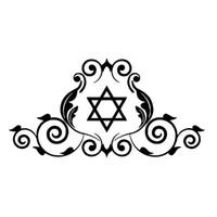 Wholesale Stars Roof - 14cm*7cm Star Of David Jewish Symbol Creative Classic Vinyl Stickers Car Styling Decals Decor