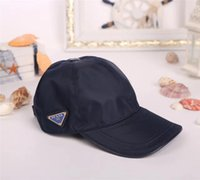 Wholesale printed shades - High quality nylon fabric hats European style brand baseball cap fashion triangle standard designer ball caps outdoor travel shade sun hat