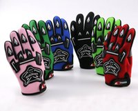 Wholesale Quads Dirt Bikes - Wholesale- Guantes Motorcycle Racing Gloves For YOUTH PEEWEE Kids Motocross Bicycle Dirt Pit Bike Poceket Bike Motorbike ATV QUAD