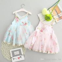 Wholesale Kids Dress Wholesale Price - Baby Girls Lace Tutu 2017 New Summer Dresses Childrens Sleeveless for Kids Clothing Party Dress Best Price For Fine Quality