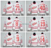 hokey forması pavel toptan satış-2017 Centennial Klasik Detroit Red Wings Formalar Hokeyi 100. Yıldönümü 19 Steve Yzerman 13 Pavel Datsyuk 40 Zetterberg 71 Larkin Nyquisi