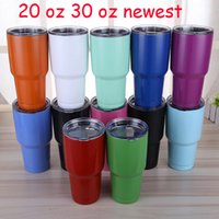 Wholesale Beer Wall Light - 30 oz 20 oz Tumblers Double Wall Cups Travel Vehicle cups Beer Mugs Vacuum Insulated Stainless Steel Cup 2017 DHL FEDEX