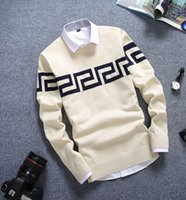 Wholesale Men S Cashmere Sweater Zipper - Wholesale- New Men's Brand O neck Long Sleeve Cashmere sweaters Knitwear fashion designer pullovers fashion new