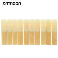 Vente en gros de munitions 10-pack Pieces Strength 3.0 Bambous Reeds for Eb Alto Saxophone Sax Instruments à vent Parties Accessoires