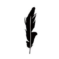 Wholesale Indian Stickers - 2017 Hot Sale Car Stying Feather Vinyl Decal Car Window Wall Bumper Jdm Native Indian Symbol Jdm