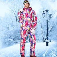 Wholesale Cheap Womens Jackets Coats - Wholesale- 2016 Ski Suit Female Womens Ski Suits Winter Sport Snow Clothes Cheap Ski Suit Mountain Skiing Colorful Snowboard Coat Outdoor