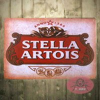 Wholesale Alcohol Signs - T-Ray shabby chic star from 1366 Stella Artois beer alcohol metal tin sign poster 170314#