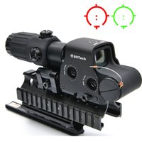 Wholesale Green Rails - Outdoor Hunting 558+33 Holographic Red Green Dot Sight Rifle Scope For 20mm Weaver Rail Mounts Tan And Black Color