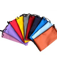 Wholesale leather eyeglass pouches - Durable Waterproof Leather Plastic Sunglasses Pouch Soft Eyeglasses Bag Glasses Case Mixed Colors Eyewear Accessories 3012006