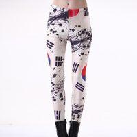 Wholesale Sexy Leggings Korea - NEW Arrival 3200 Sexy Girl Women Brazil Korea Flag CASKFGL Prints Running Elastic GYM Fitness Sport Leggings Yoga Pants