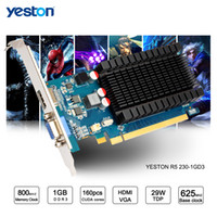 Wholesale Radeon Hdmi - Yeston Radeon R5 230 GPU 1GB GDDR3 64 bit Gaming Desktop computer PC Video Graphics Cards support VGA HDMI
