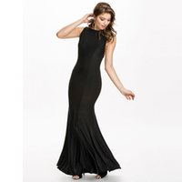 2017 New Summer Sexy Backless Spaghetti Strap Black Sleeveless Plus Size Maxi Fashion Abito da sera Articolo NO H00089