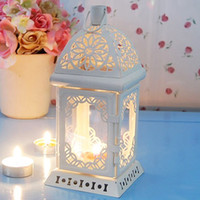 Wholesale Glass Candle Hanging - Wedding Decorative Hanging Candlestick Iron Floor Candle Holders Design White Color Vintage Candle Holder For Home Decoration Accessory