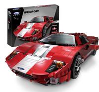 coches de carreras de ladrillos al por mayor-XINGBAO Blocks Famous Car DIY Ladrillos de Construcción Modelo de carrera de Bloques de Construcción GT Educativos para Niños juguetes para niños Boy 03008