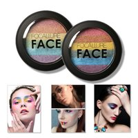Wholesale rainbow makeup palette resale online - DHL FOCALLURE Rainbow Highlighter Makeup Eyeshadow Palette Baked Blush Face Shimmer Color Eye Shadow Cosmetics Beauty Tools Kits