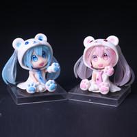 Wholesale Anime Figure Hatsune Miku - Hot sale anime figure pvc toys Q ver Hatsune Miku Sakura Miku Blue Miku boxed 6CM gift for children