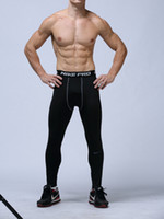 Wholesale Pattern Leggings Xl - mens compression pants sports running tights basketball gym pants bodybuilding joggers skinny leggings trousers Full Length Free shipping