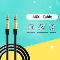Wholesale Cable Iphone Mini Jack - 3.5mm Male to Male Audio Stereo Jack 3.5 mm Aux Cable for iPhone 6 Usb Car mini Speaker Headphone Extension Cable Wire Aux Cord